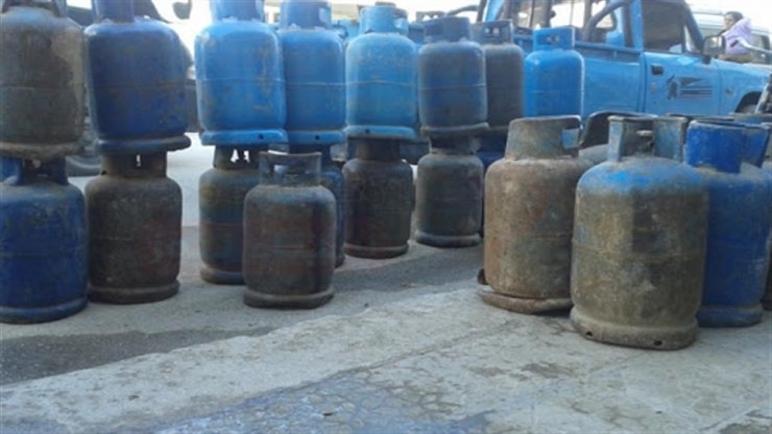 محطة لتعبئة أسطوانات الغاز بمنطقة بغداد في وسط سيناء