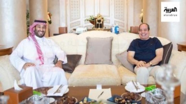 الرئيس السيسى يلتقى الأمير محمد بن سلمان في شرم الشيخ