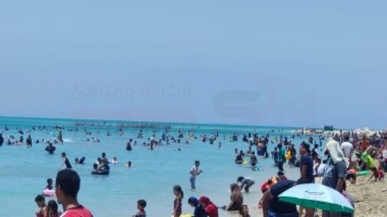 شواطئ رأس سدر بجنوب سيناء كاملة العدد فى ثالث أيام عيد الأضحى المبارك ..صور