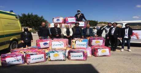العرجاني يوجه قوافل سيناء الخير لثاني أكبر مدينة في محافظة شمال سيناء ويدعم المنظومة الصحية