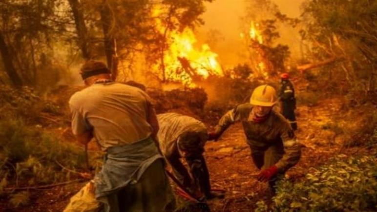 حريق جديد في جزيرة إيفيا اليونانية وإجلاء السكان